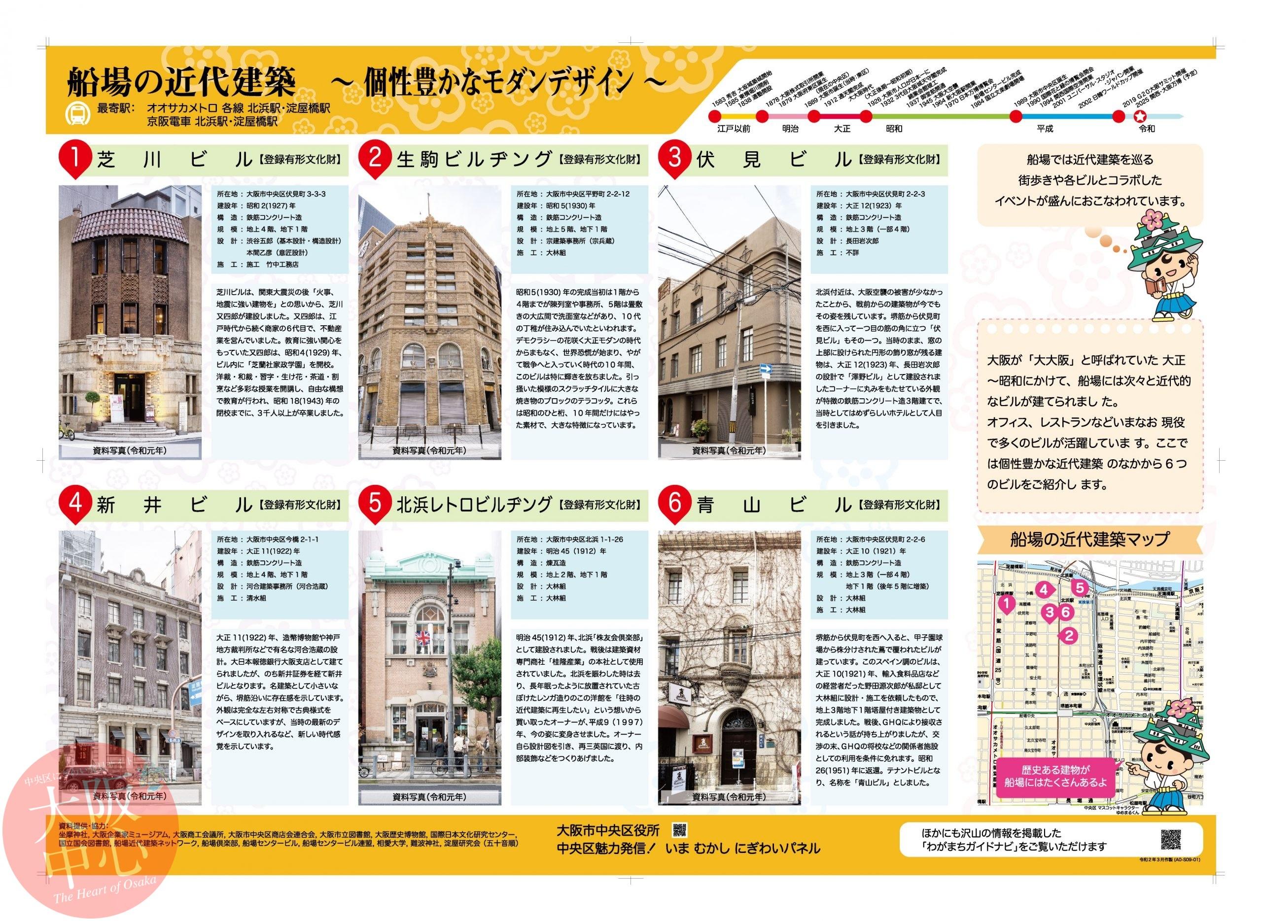 船場と近代建築 〜個性豊かなモダンデザイン〜