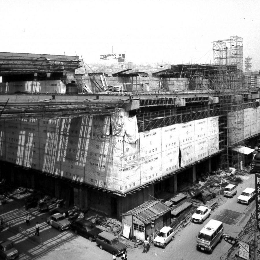 建築中の船場センタービル