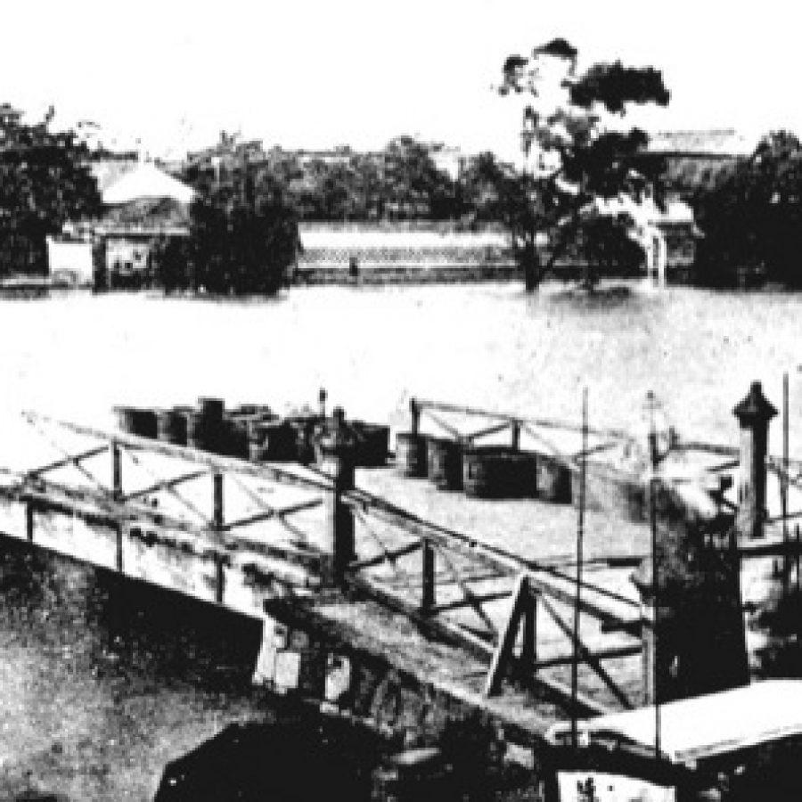 明治の頃の木造製淀屋橋