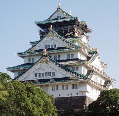 大阪城天守閣 ライトダウンをおこないます