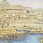 八軒家船着場風景画