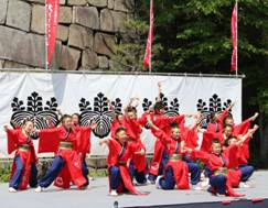大阪城天守閣の秋まつり