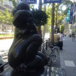 Midosuji Sculpture Street / Young Girl Combing her hair:W-12