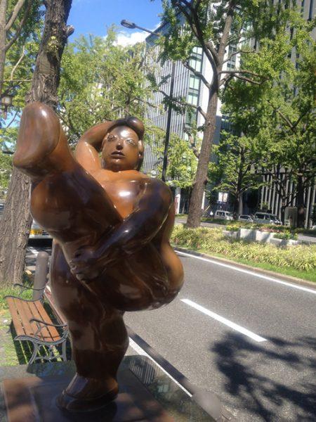 御堂筋彫刻ストリート / 踊り子:W-8