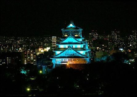 「世界糖尿病デー」に大阪城天守閣のブルーライトアップを実施