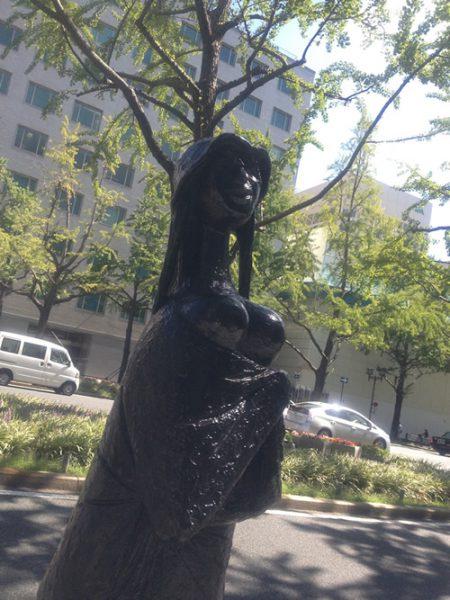 御堂筋彫刻ストリート / 水浴者:W-3