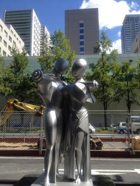 御堂筋彫刻ストリート / ヘクテルとアンドロマケ:W-4