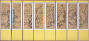 魚楽図屏風(ぎょらくずびょうぶ) 李氏朝鮮王朝時代