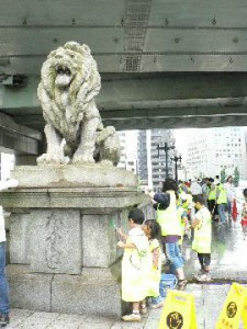 橋洗い(難波橋)