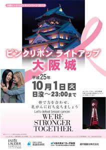 大阪ピンクリボンキャンペーン2013