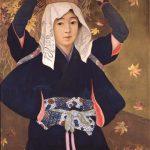 神阪松濤 「秋の大原女」
