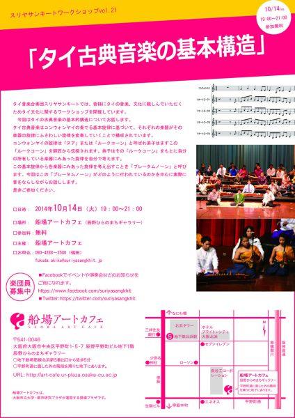 スリヤサンキート ワークショップ vol.21 「タイ古典音楽の基本構造」