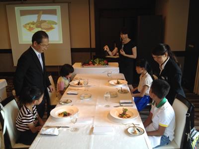 野菜ソムリエから親と子で学ぶ年2回の食育講座「キッズレストラン イン ルポンドシエル」