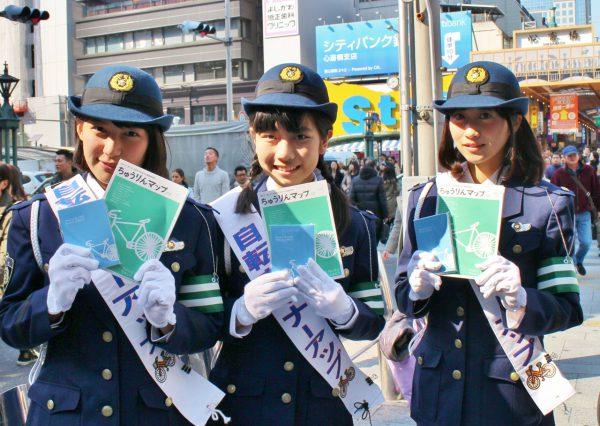 自転車マナーのアップでおもてなし!心斎橋でキャンペーン実施