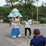 NHKBSの番組でゆめまるくんが大阪のまちを案内します