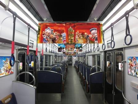 京阪電車×白猫プロジェクト コラボレーション車両「白猫列車」の運行