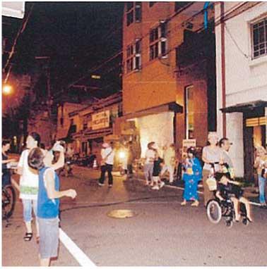 安堂寺町通界隈の夜店