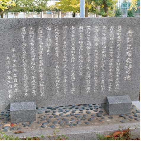 青刻昆布発祥の地の石碑