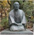 井原西鶴座像