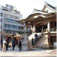 難波神社・稲荷社文楽座跡碑