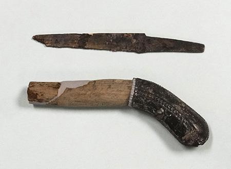 大阪歴史博物館 常設展示「古代の刀子と大刀」