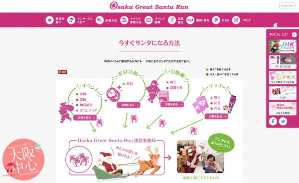 サンタバル -大阪中がサンタで賑わうバルイベント!-  SANTA RUN