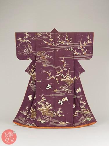 大阪歴史博物館 常設展示「御所解小袖(ごしょどきこそで)」