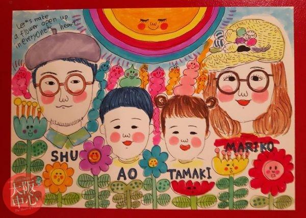 壁画作家・今川咲恵さんによる似顔絵イベント