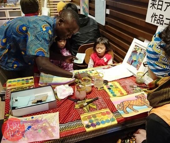 天王寺動物園 生物多様性イベント「ティンガティンガアートでクロサイとキリマンジャロ山を描こう」