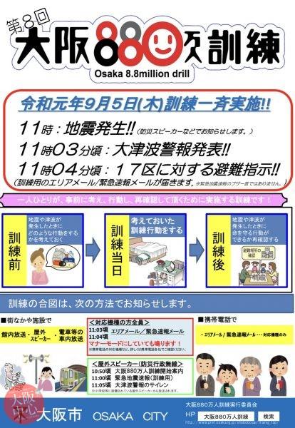 第8回 大阪880万人訓練