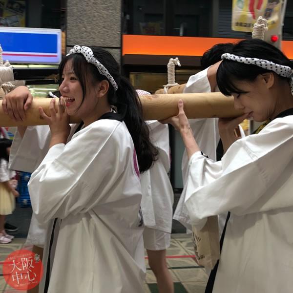留学生中央区体験レポート - 神社と祭りで神輿体験 #4