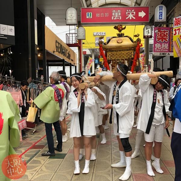 留学生中央区体験レポート - 神社と祭りで神輿体験 #5
