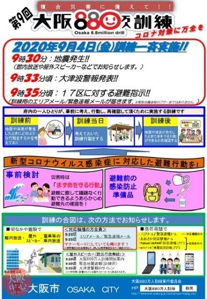 第9回大阪880万人訓練