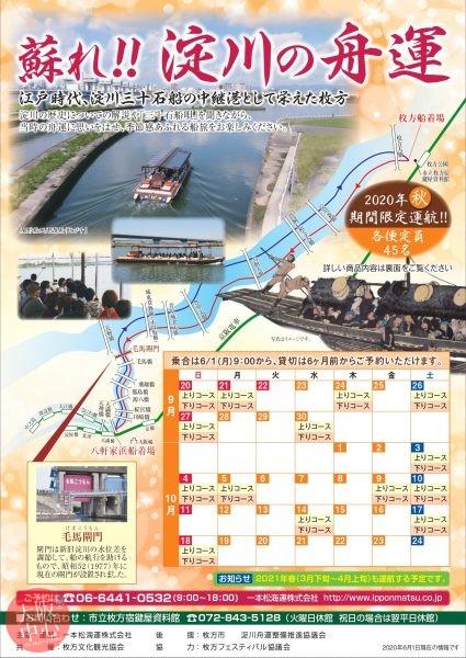 蘇れ!! 淀川の舟運 2020秋