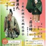 上野松颯会定期能楽会 令和3年度 第82期 第2回
